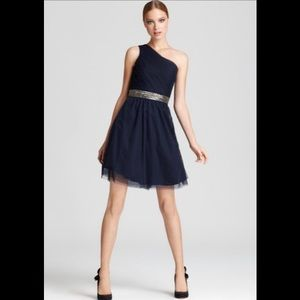 Max and Cleo (BCBG) One Shoulder Cocktail Dress